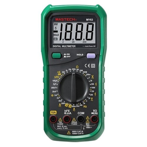Цифровой мультиметр MASTECH MY63N тест диодов и транзисторов