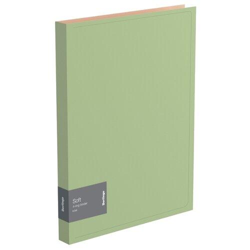 Купить Berlingo Папка на 4-х кольцах Soft А4, пластик оливковый, Файлы и папки