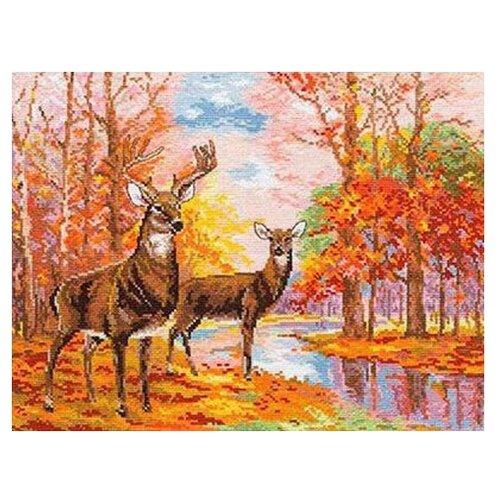 Купить 1-09 Набор для вышивания АЛИСА 'Олени в осеннем лесу' 36*27см, Алиса, Наборы для вышивания