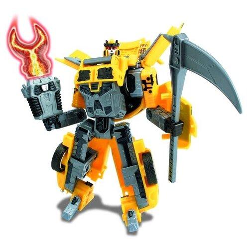 Купить Робот-трансформер Happy Well Mitsubishi Lancer Evolution IX 52080 желтый, Роботы и трансформеры