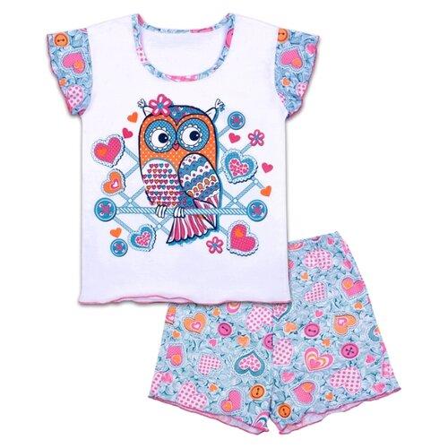 Купить Пижама Апрель размер 92-50, белый/бирюзовый, Домашняя одежда