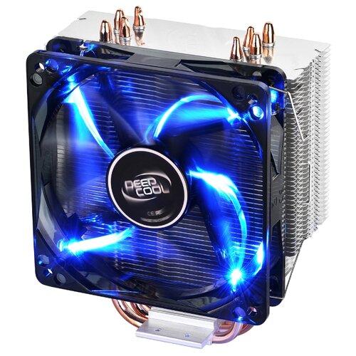 Кулер для процессора Deepcool GAMMAXX 400 BASIC серебристый/черный/синяя подсветка кулер для процессора deepcool gammaxx 300 fury