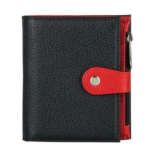 Фото - Портмоне FABULA PJ.186.BK, натуральная кожа черный/красный ключница fabula kl 56 bk красный