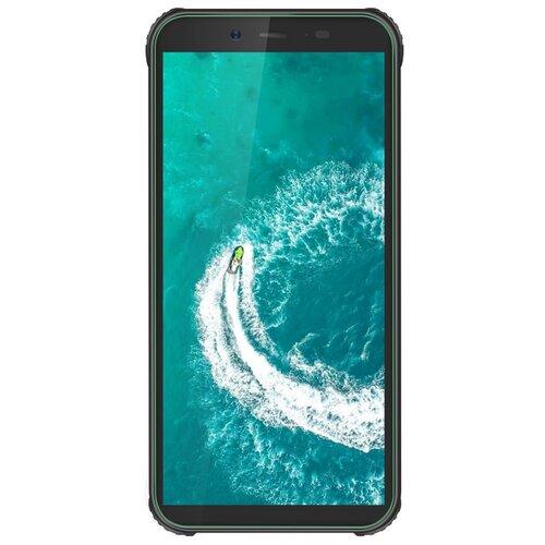 Смартфон Blackview BV5500 Plus, черный / зеленый