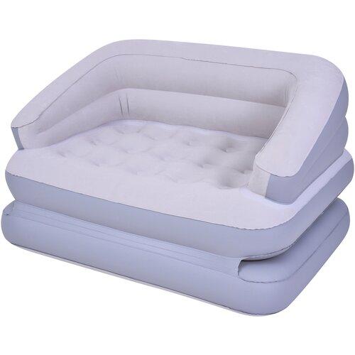 Надувная кровать Jilong Double трансформер 27506 светло-серый