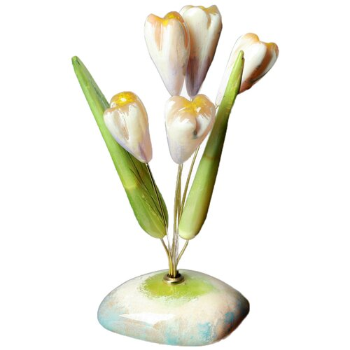 Цветы «Подснежники», 5 цветков, селенит 1462667 магнит бык селенит 5 5 6 5 см