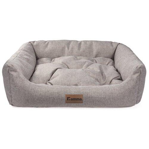 Лежак для собак и кошек Гамма Кижи Медиум прямоугольная 48х30х16 см серый