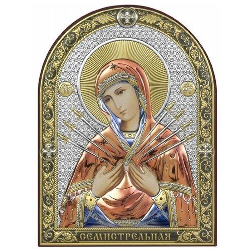 Икона Божией Матери Семистрельная 6395/C, 13.7х17.2 см по цене 3 840