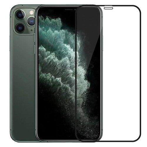 Ударопрочное стекло для Apple iPhone X, iPhone XS и iPhone 11 Pro / Закаленное стекло для Эпл Айфон Х, Хс и 11 Про Premium 5D с полным покрытием экрана (Черный)
