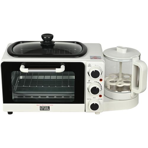 Многофункциональная мини-печь GFGRIL GFBB-10 4 в 1: духовка 7 л гриль-сковорода чайник 08 л яйцеварка