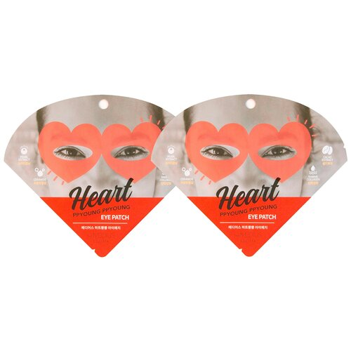 MEDIUS Патчи для глаз Heart Ppyoung Ppyoung Eye Patch, 2 уп.
