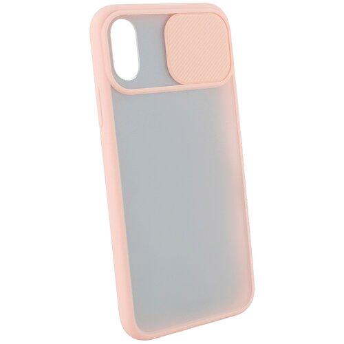 Защитный чехол с защитой камеры для iPhone X/XS / на Айфон 10 / бампер / накладка на телефон / Розовый