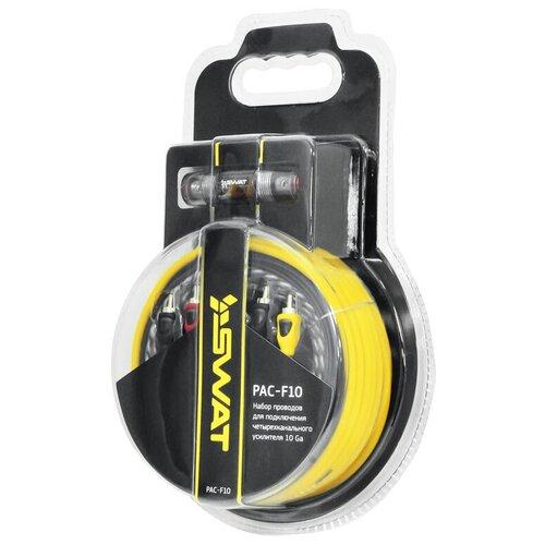 Фото - Установочный комплект SWAT PAC-F10 желтый/черный установочный комплект incar pac 408 мультиколор