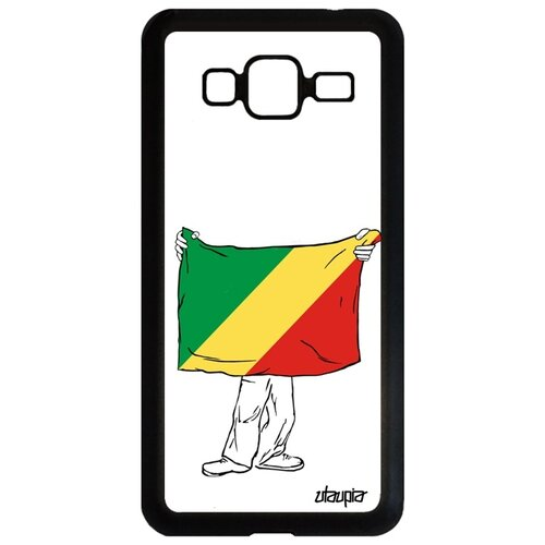 Фото - Чехол для телефона Samsung Galaxy J3 2016, Флаг Конго Браззавиль с руками Путешествие чехол with love moscow w003969sam для samsung galaxy j3 2016 девушка с вином