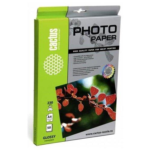 Фото - Бумага cactus А4 CS-GA423050 230г/м² 50л., белый бумага cactus cs ga415050 a4 150г кв м глянцевая 50л