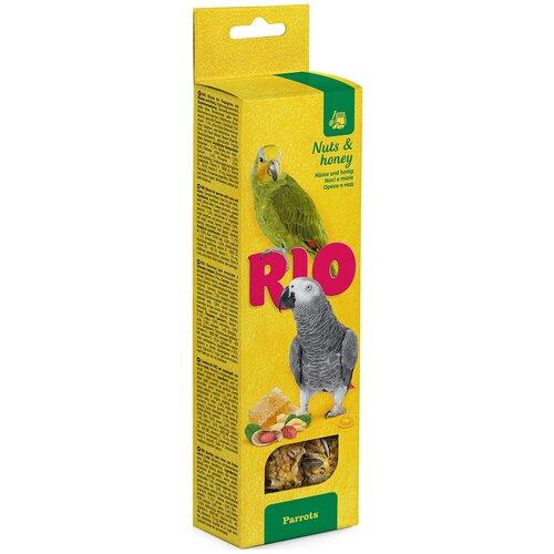 Лакомство для птиц RIO с медом и орехами 180 г rio rio палочки для средних попугаев с медом и орехами 2 шт 75 г