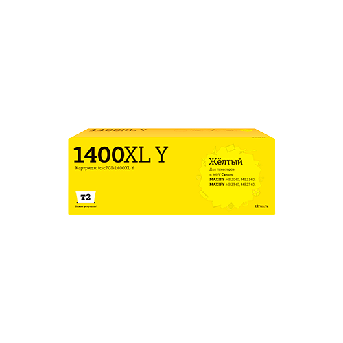 Фото - Картридж T2 IC-CPGI-1400XL Y, совместимый картридж t2 ic cpgi 480pgbk xxl совместимый