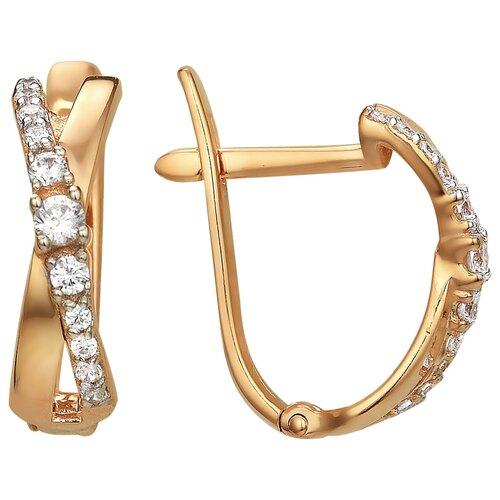 Сорокин Золотые серьги с фианитами 40160400