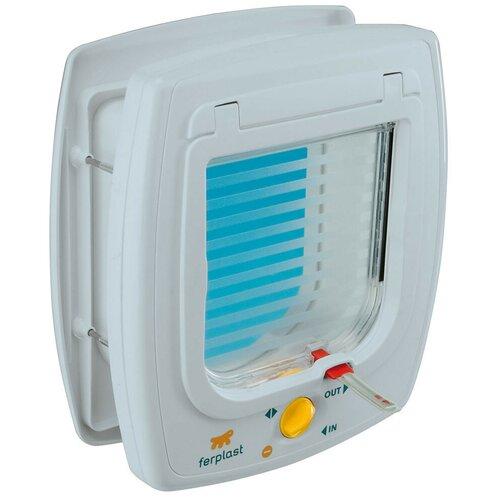 Дверца в дверь для животных Ferplast Swing 5 22.5х25.2 см белый туннель для автоматической двери ferplast swing 3 5 16 3 х 5 х 18 4 см белый