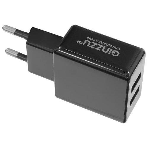 Сетевая зарядка Ginzzu GA-3312UB, черный автомобильная зарядка ginzzu ga 4615ub черный