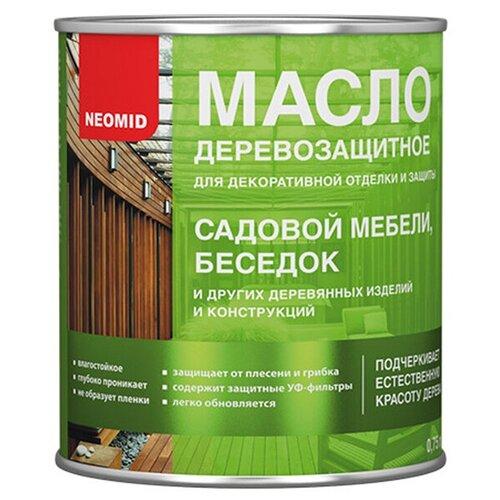 Масло деревозащитное для мебели и интерьеров NEOMID, Красное дерево 0.75 л