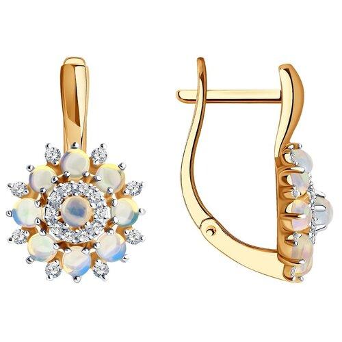 SOKOLOV Серьги из золота с бриллиантами и опалами 6024221