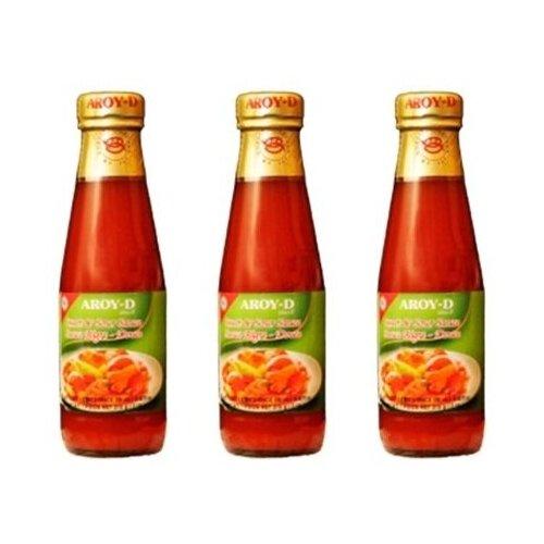 Соус кисло-сладкий AROY-D (3 шт. по 215 г) сладкий соус чили для курицы aroy d 920 г