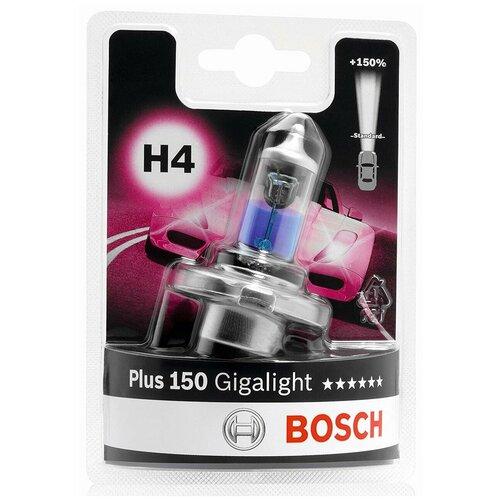 Лампа автомобильная BOSCH H4 Gigalight +150%, 1987301136