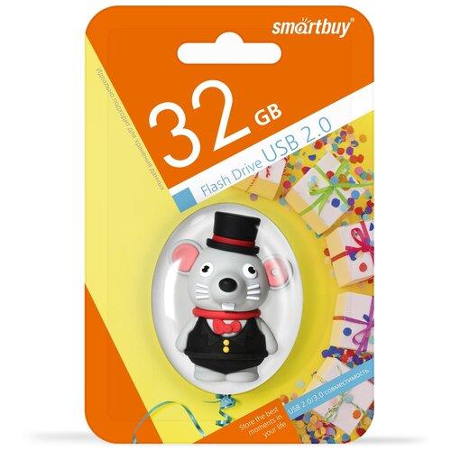 Фото - UFD Smartbuy 32GB Wild series Мышка (SB32GBMouseW) ufd smartbuy 16gb wild series бык sb16gbbullw