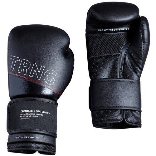 Боксерские перчатки 120 тренировочные черные Размер 10 OUTSHOCK X Декатлон Размер 10 OUTSHOCK X Декатлон