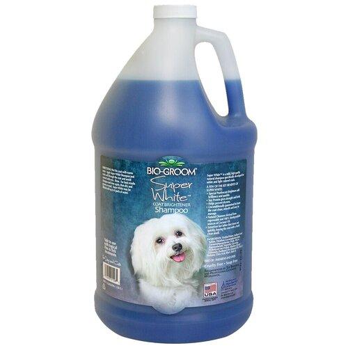 Шампунь Bio-Groom Super White для собак белого и светлых окрасов 3,8 л шампунь bio groom super white для собак белого и светлых окрасов 355 мл