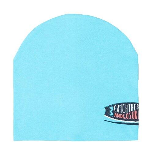 Купить Шапка бини crockid размер 50-52, бирюзово-голубой к284, Головные уборы