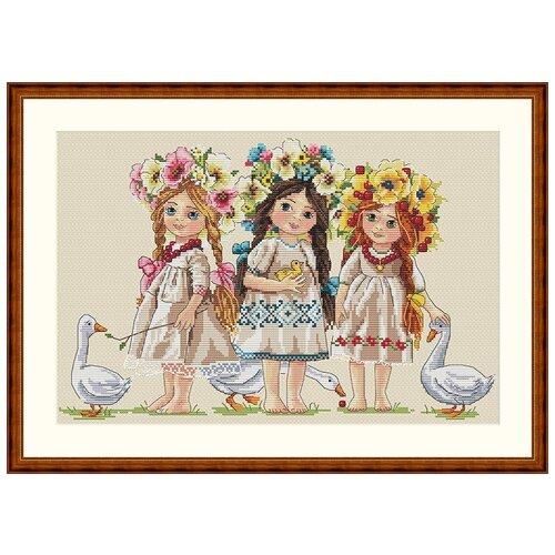 Набор для вышивания Подружки MEREJKA K-42, Мережка, Наборы для вышивания  - купить со скидкой