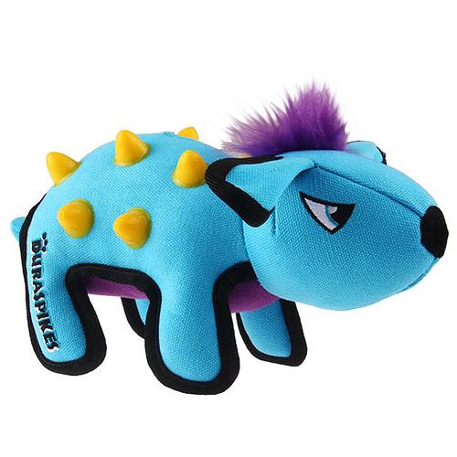 Фото - Игрушка для собак GiGwi Duraspikes Енот (75440) голубой/фиолетовый/желтый игрушка для собак gigwi push to mute сова 75322 фиолетовый
