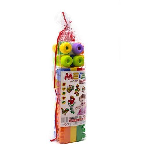 Конструктор детский большие блоки разноцветный 33 элемента MAXIMUS Мега мастер / конструктор для мальчиков / развивающие игрушки / конструкторы для девочек / конструкторы для мальчиков / конструктор для девочек / детский конструктор