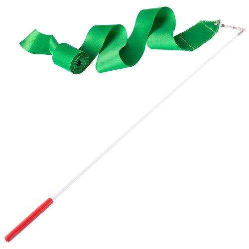 Фото - Палочка с лентой для художественной гимнастики Amely AGR-201 4м зеленый палочка с лентой для художественной гимнастики larsen ab220 синий