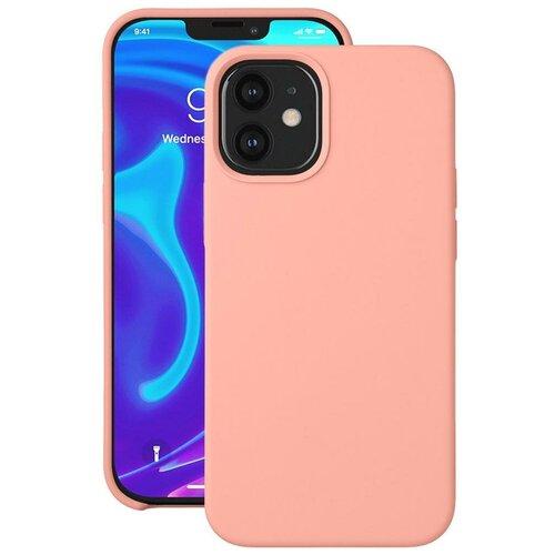 Чехол для Apple iPhone 12 mini Deppa Liquid Silicone розовый чехол клип кейс deppa liquid silicone для apple iphone 12 mini бургунди [87787]
