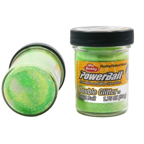 Форелевая паста Berkley - ESDGTB-SGWLY (1105520) Double Glitter Twist цвет зелёный/белый/жёлтый