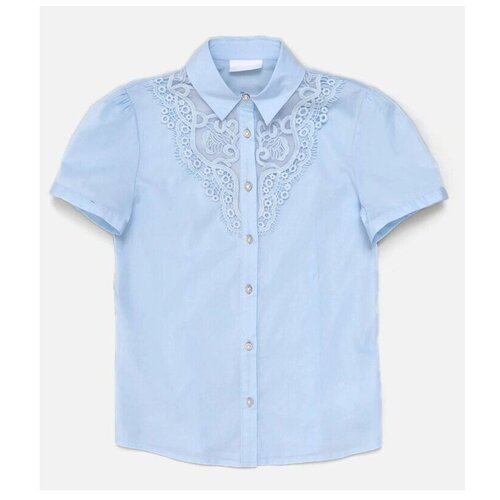 джемпер для девочек размер 164 серо голубой тм acoola арт 20210150012 Блузка Acoola размер 164, голубой