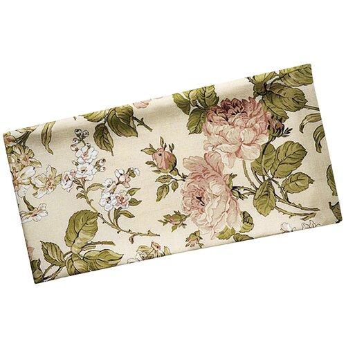 Простыня Сказка Прохоровская роза перкаль на резинке 140x200 см бежевый/зеленый