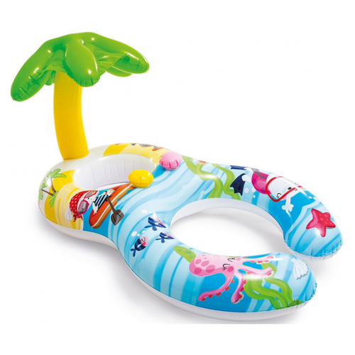 Фото - Надувной круг - ходунки с навесом Первое купание, 117х75 см, от 1 до 2 лет, арт. 56590, надувной круг intex 117x75cm 56590