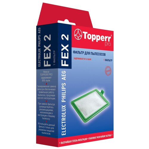 Фото - Topperr Фильтр FEX 2 1 шт. фильтр topperr fex 2 electrolux philips zanussi aeg ef17 fc8030 1164