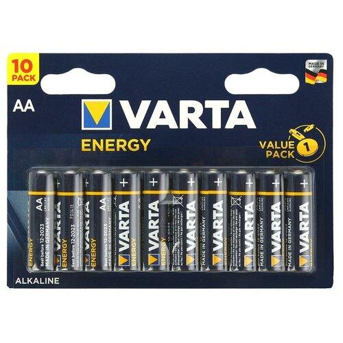 Фото - Батарейка VARTA ENERGY AA, 10 шт. батарейка energizer max plus aa 4 шт