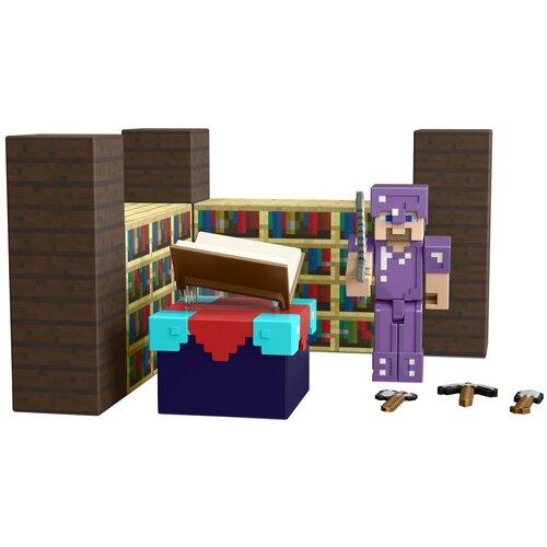 Купить Игровой набор Mattel Minecraft Комната для зачарования GYB62, Игровые наборы и фигурки