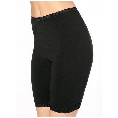Sisi Трусы панталоны высокой посадки с кружевной отделкой, размер L(48), nero