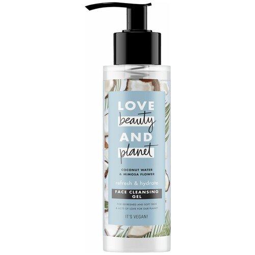 Love Beauty and Planet гель для умывания Свежесть и увлажнение с кокосовой водой и мимозой, 115 мл love beauty and planet скраб для лица гладкость лепестков 115 мл