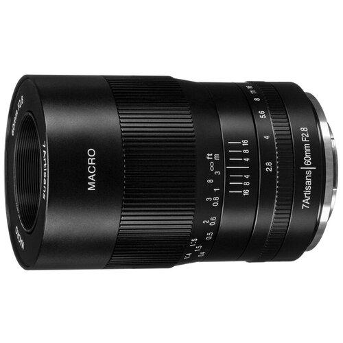 Фото - Объектив 7artisans 60mm f/2.8 Macro Canon EF-M черный объектив 7artisans 18mm f6 3 canon eos m mount