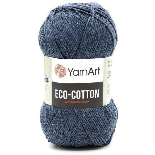 Купить Пряжа YarnArt 'Eco Cotton' 100гр 220м (85% хлопок, 15% полиэстер) (773 джинс), 5 мотков