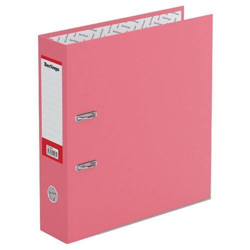 Berlingo Папка-регистратор с металлической окантовкой Hyper A4, 80 мм, крафт-бумага розовый