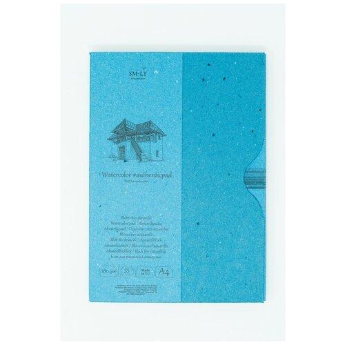 Купить Альбом SM-LT Watercolor Authentic в папке А4 35л 280 г/м2 белый, склейка AA-35, Smiltainis, Альбомы для рисования